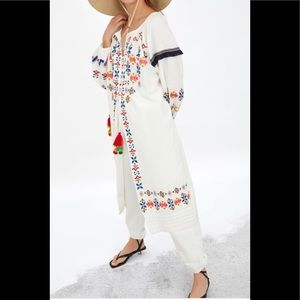Zara Colorful Embroidered Tunic
